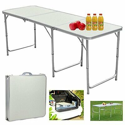 Heavy Duty 6FT Portable Folding Trestle Table Camping Garden Party Large Desk UK • 30.99£