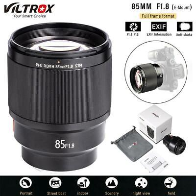 $ CDN475.34 • Buy Viltrox 85mm F1.8 AF Large Aperture STM Lens For Sony E-Mount A9 A7R2 III A6400
