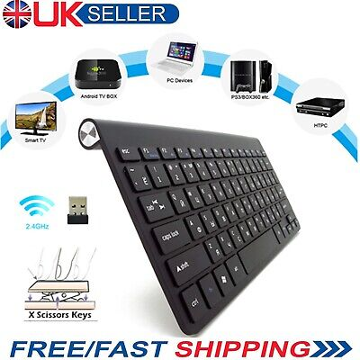 NEW Slim Wireless Bluetooth Keyboard For IMac IPad Android Phone Tablet PC Black • 21.19£