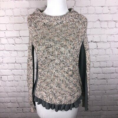 $ CDN45 • Buy Anthropologie Moth Marled Knit Sweater With Ruffle Hem Women's  Size Small