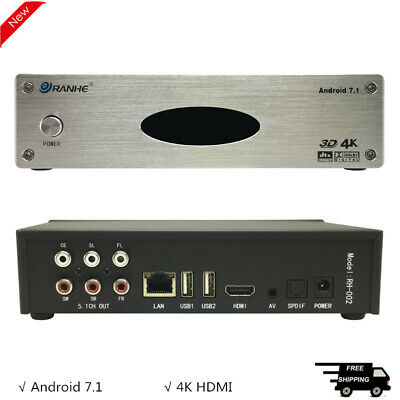 £77.08 • Buy Video Decoder Hard Disk Player 5.1 4K HDMI Android 7.1 Wireless Wifi DTS AC3