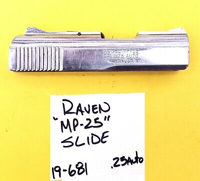 $28.53 • Buy Raven Mp 25 Chrome Slide With The Extractor + Sliding Safety Used Item #19-681