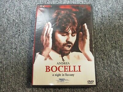 $14.99 • Buy Andrea Bocelli-A Night In Tuscany-DVD-Sarah Brightman-Time To Say Goodbye-Music