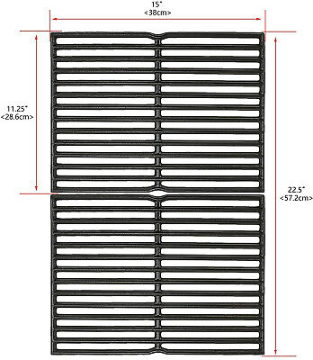 $ CDN58.54 • Buy  Uniflasy 15 Inch Cast Iron Grill Cooking Grid Grate For Weber Old Spirit 200 A