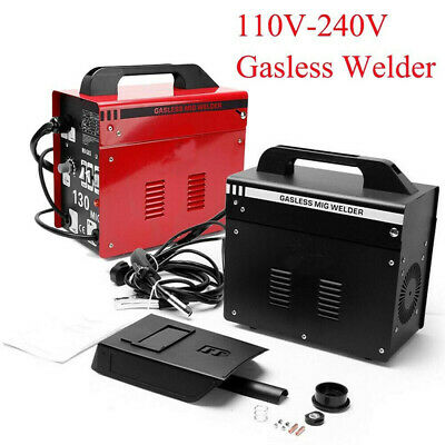 MIG 130 Gasless Welder Welding Machine 110-240V Portable With Kit Mask Uking UK • 89.99£