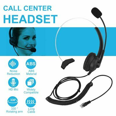 Wired Computer Headset Crystal Head Headphones For Call Center Skype Telephone • 12.99£