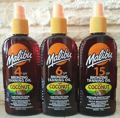 Malibu Bronzing Tanning Oil With Coconut 200ml Select Your SPF • 6.99£