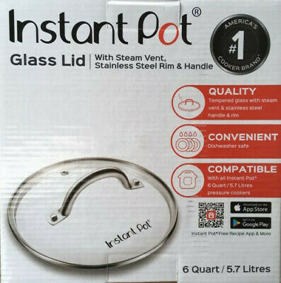 $14.49 • Buy Genuine Instant Pot Lid, Tempered Glass 9 In. (23 Cm), 6 Quart, Clear