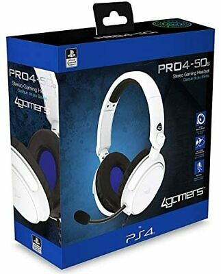 $ CDN39.74 • Buy PS4 Gaming Chat Headset With Mic Officially Licensed PRO4-50s White For PS5