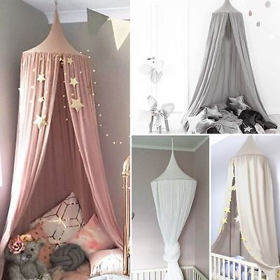 £25.14 • Buy Kids Baby Bed Canopy Bedcover Mosquito Net Curtain Bedding Dome Tent Cotton UK