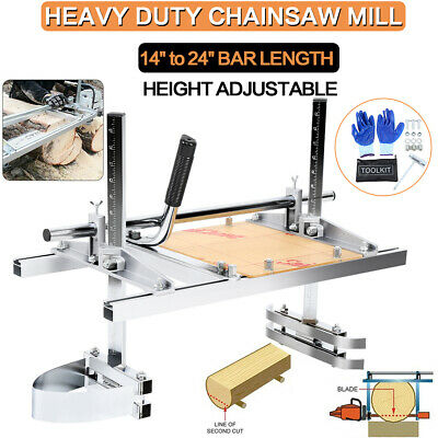 £72.19 • Buy Portable Chainsaw Mill Guide Bar Wood Log Milling Planking Lumber Cutting 24