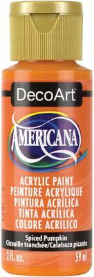 Americana Acrylic Paint 2oz-Spiced Pumpkin - Opaque -DA-310 • 7.09£
