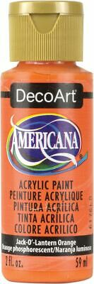 Americana Acrylic Paint 2oz-Jack-O-Lantern Orange - Transparent -DA-229 • 7.27£