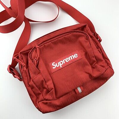 $ CDN230.18 • Buy Supreme SS19 Cordura Shoulder Logo Messenger Bag RED New!