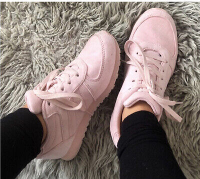 £5 • Buy Primark Baby Pink Lace Up Trainers