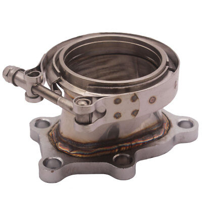 $ CDN64.28 • Buy 3  Steel 5 Bolts Turbo Downpipe V-band Adapter Flange Clamp Kit Fit Mazdaspeed 6