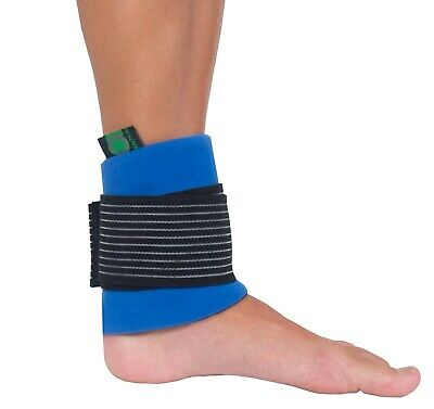 Ankle Ice Pack And Wrap - Reusable Hot Cold Compress Gel For Knee Pain UK Seller • 7.99£