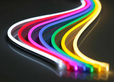 $6.99 • Buy USA DC 12V SMD2835 Flexible LED Strip Waterproof Neon Lights Silicone Tube 3.3ft