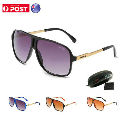 AU17.59 • Buy Carrera Men Women's Retro Sunglasses Unisex Aviator Sunglasses Black Glasses Box