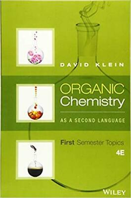 $12.95 • Buy [P.D.F]  Organic Chemistry As A Second Language: First Semester Topics 4th Ed