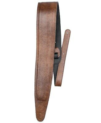 $ CDN69.99 • Buy Bass Player Guitar Strap Genuine Chestnut Color Glove Leather Padded Extra Long