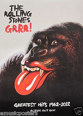 THE ROLLING STONES  GRRR!  SMALL THAILAND PROMO POSTER - Sexy Gorilla With Lips! • 18.51£