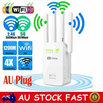 AU63.88 • Buy 1200Mbps 2.4G/5G Wireless Wifi Range Extender Router AP/Repeater Signal Booster