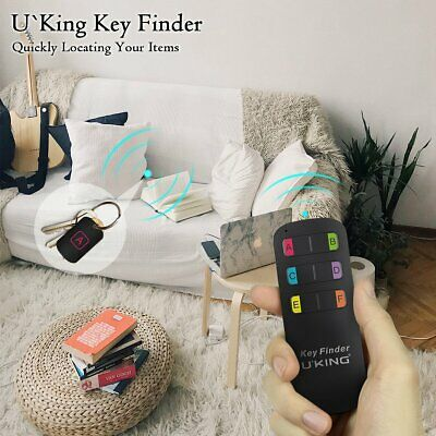 Smart Wireless Key Finder Anti Lost Tracker Alarm GPS Locator 6 Tag With Remote • 15.99£