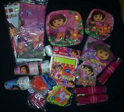 DORA The Explorer Party Supplies  HUGE LOT 50 Pcs. Games Favors Gifts NEW  • 89.65£