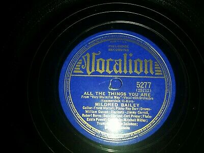 MILDRED BAILEY. On Vocalion. E - To V + +  • 9.99£