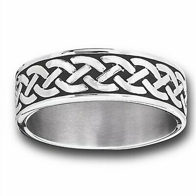 $16.99 • Buy Celtic Knot Ring Mens Womens Stainless Steel Norse Viking Wedding Band Size 9-15