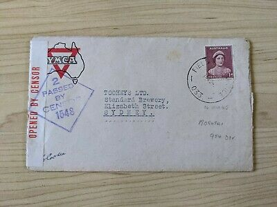 AU50 • Buy WWII Military Mail YMCA Passed By Censor Delivered To Tooheys Brewery Sydney