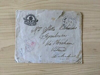 AU30 • Buy WWI YMCA Military Mail Sent From Field Post Office T.66 To Gymbowen Victoria