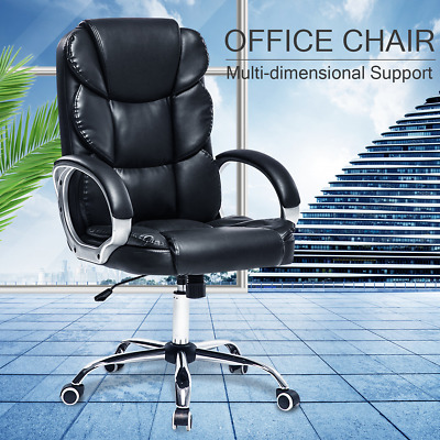 £79.99 • Buy Luxury Executive Computer Office Desk Gaming Chair Swivel Recliner W/ Footrest