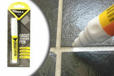 Grout Pen White REFRESHES REVIVES Mould Water Resistant Kitchen Bathroom Shower • 2.89£