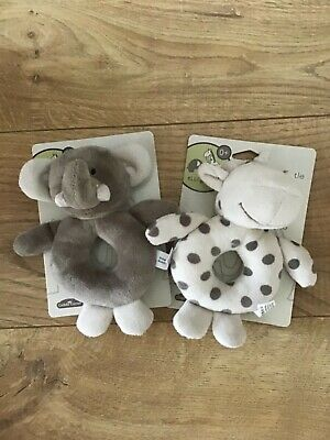 £7.99 • Buy Elli And Raff Baby Plush Ring Rattle, Perfect Gift!