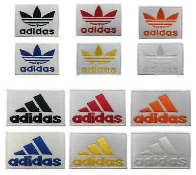 ADIDAS SPORTS LOGO IRON On SEW ON PATCH Embroidered Quality BADGE • 1.99£