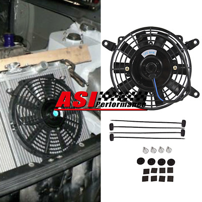 AU39 • Buy 9 Inch Pull Push Radiator Electirc Thermo Curved Blade Fan Mounting Kits 12V