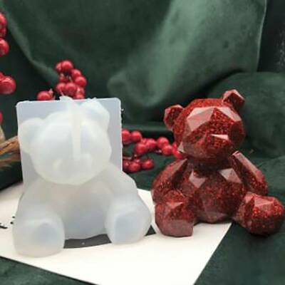 3D Bear Silicone Mold Mould Chocolate Polymer Clay Soap Candle Wax Resin LC • 2.76£