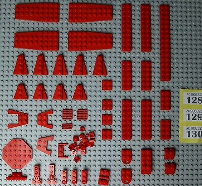 ~70pcs Lego Red Wings & Wedges + Plates  3x3 4x9 2x8 2x3 2x3 2x2 2x6 #Y128-30 • 6.49£