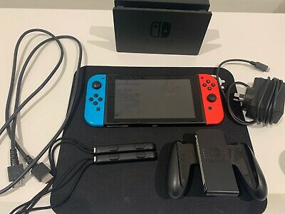 AU540 • Buy Nintendo Switch Neon Blue/Red Console - GREAT Condition - WORLDWIDE - POSTAGE