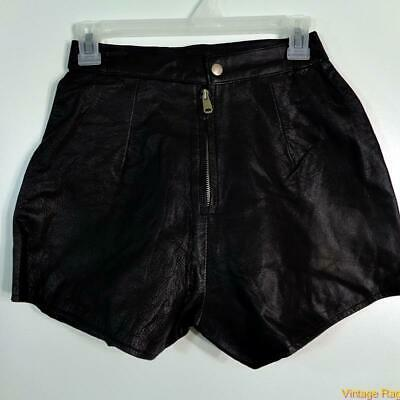 $29.99 • Buy Sexy Soft Leather Shorts  Size S Black