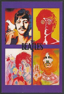$9.99 • Buy SALE NEW Richard Avedon THE BEATLES Four Faces Psychedelic Pop Art Postcard MINT