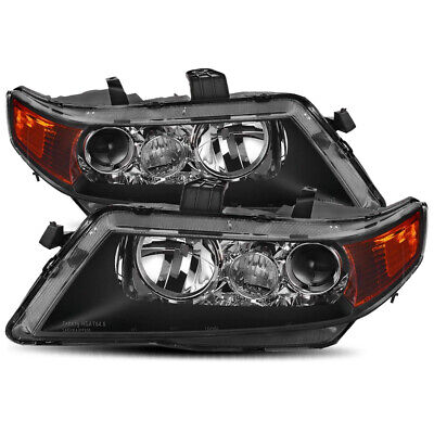 $116.96 • Buy For 2004 2005 2006 2007 2008 Acura TSX Black Factory Style Projector Headlights