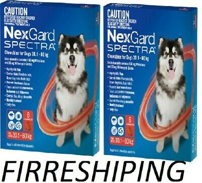 AU200 • Buy Nexgard Spectra For Dogs 30-60 Kg 6 Pack X2