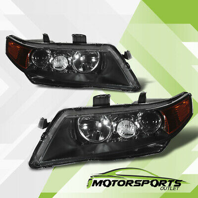$109.99 • Buy Fit 2004 2005 Acura TSX Black Projector Factory Style Headlights Set 04 05