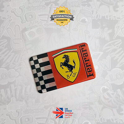 £14.45 • Buy Scuderia Ferrari F1 Limited Edition 3D Badge Chequered Red Flag Racing Emblem 59