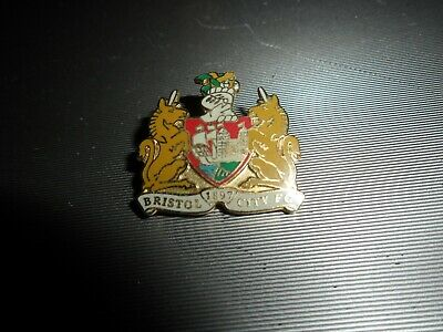 £5.99 • Buy  Football Badge Bristol City Fc. White Not Red Lettering Gilt Brooch Pin Fitting