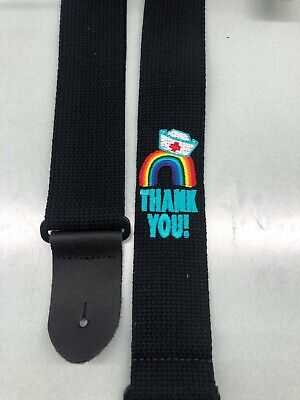 $ CDN25 • Buy Embroidered - Guitar Strap - 2  Wide Cotton With Leather Ends