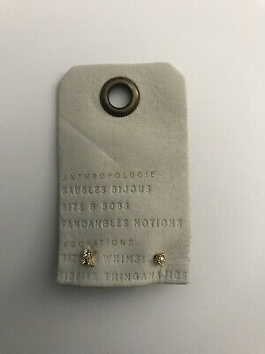 $ CDN32.21 • Buy NWT Anthropologie Teeny Tiny Monogram K Stud Earrings